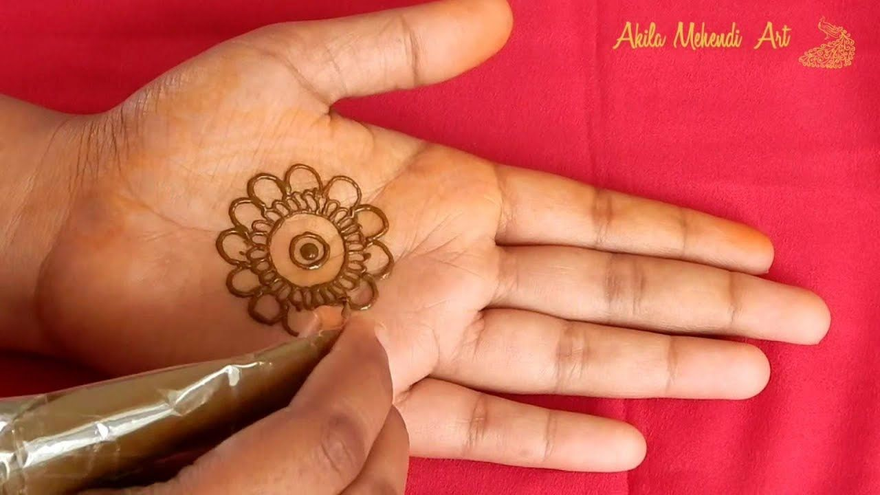 Mandala Mehndi Design for front hands , New, Simple and Easy