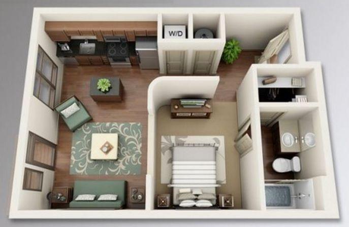 Distribuci n en departamentos de 30 metros cuadrados for Pisos de 30 metros cuadrados ikea