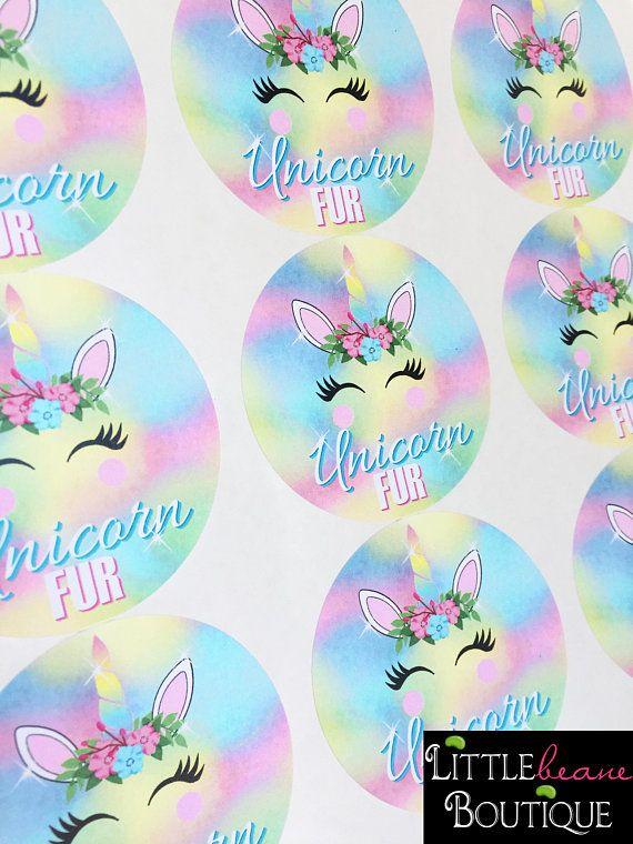 Unicorn Stickers Unicorn Birthday Party Unicorn Fur Cotton