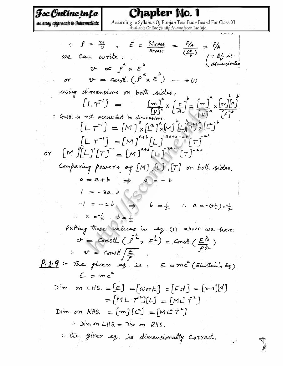 "Notes of Chapter 01: Measuremetns of ""Physics XI"" for FSc"