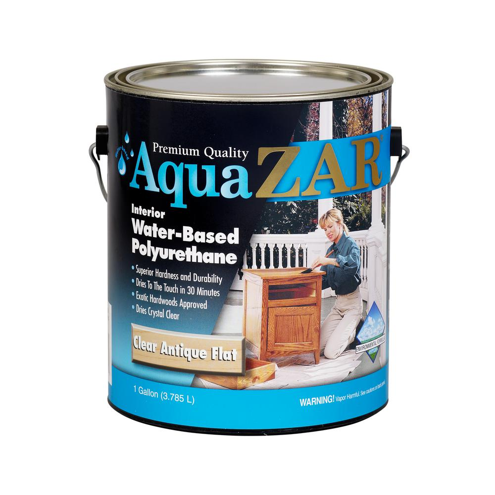 Zar 344 1g Matte Crystal Clear Water Based Polyurethane It Is Finished Light Colored Wood Water Based Stain