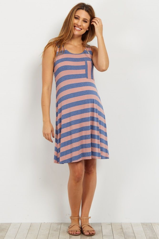 Pink Maternity Tank Dress