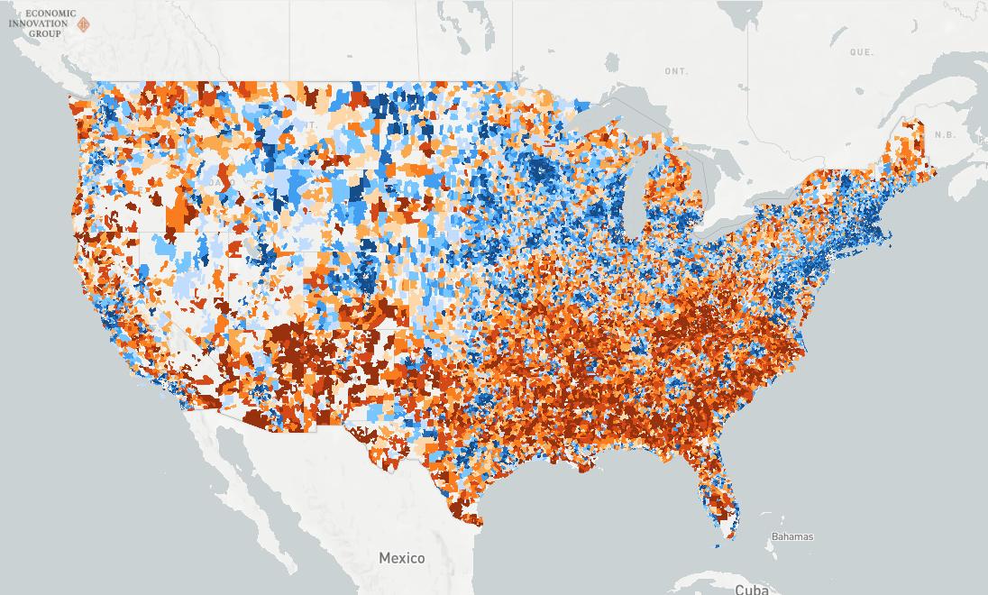 Dci Data For U S Zip Codes Map Zip Code Map Distressed