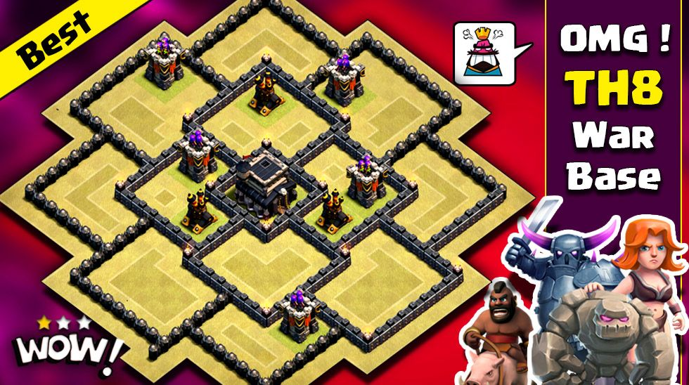 Th8 War Base Town Hall 8 Best War Base Clash Of Clans Coc Clan War Town Hall 8 Th8 Trophy Base Town Hall Trophy Base Anti Drag Clash Of Clans Clan War
