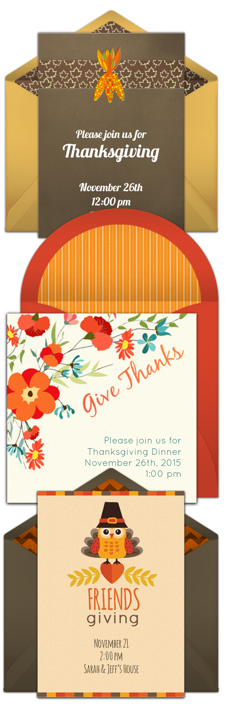 online invitations from thanksgiving celebrations pinterest