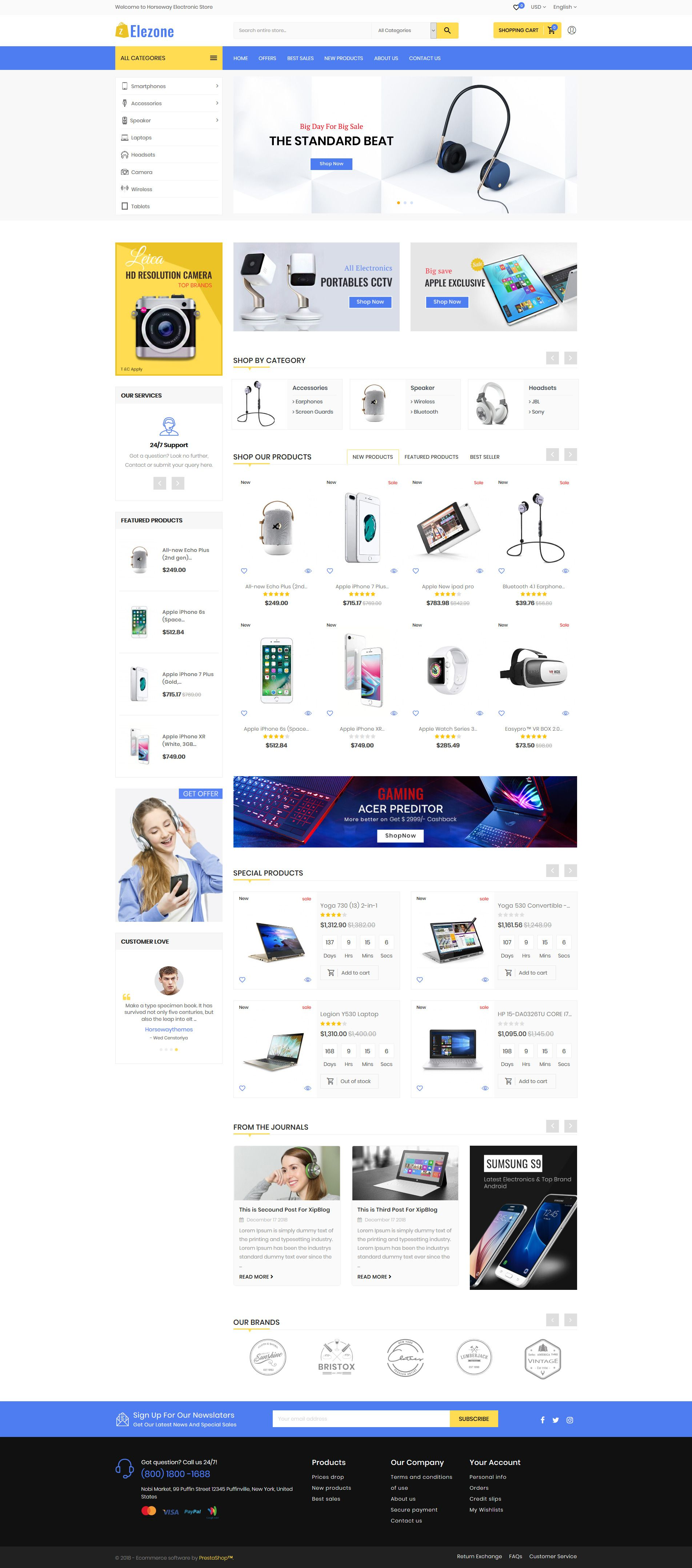 6ce2136e99 Elezone Electronic Mega Store Responsive Theme is designed for Cosmetic,  Fashion, Apparels, clothes