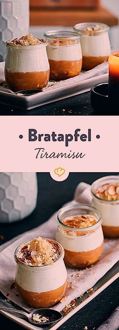 Photo of Winterliches Bratapfel-Tiramisu im Glas
