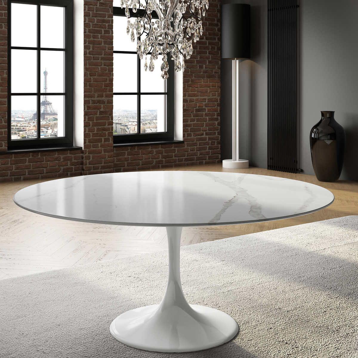 Orchid White Round Table In 2020 White Round Tables White Round
