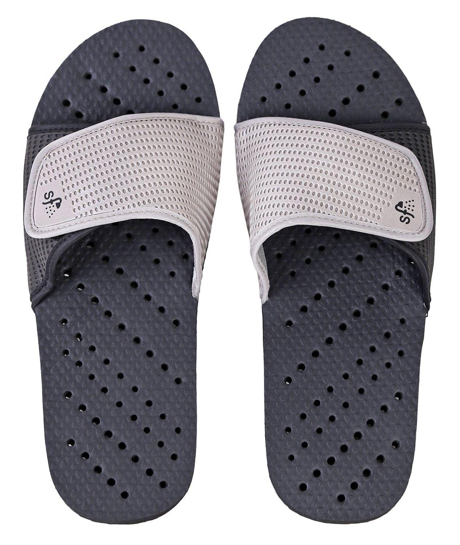 7bec328459f7 Sandals Antimicrobial Adjustable Colorblock - Black Grey ...