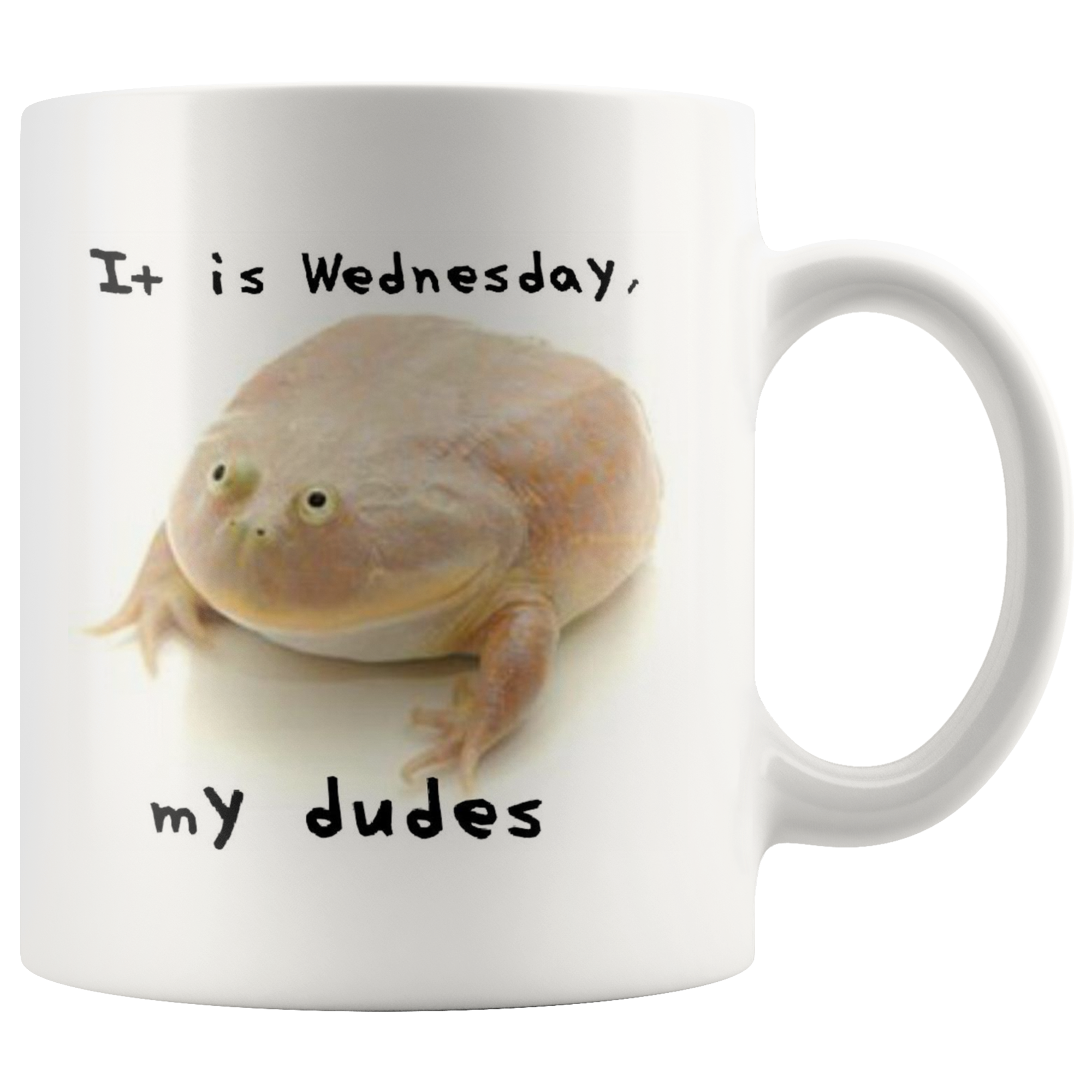 Wednesday Frog Meme Coffee Mug Mugs Funny Meme Gifts Coffee Mugs