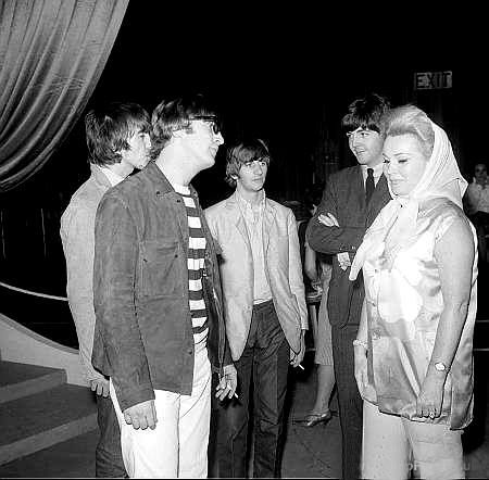 Zsa Zsa meets The Beatles --- naw, more like The Beatles met Zsa Zsa!!! - A Night Of 100 Stars charity show (I have to look up the date - but it was sometime in 1965)
