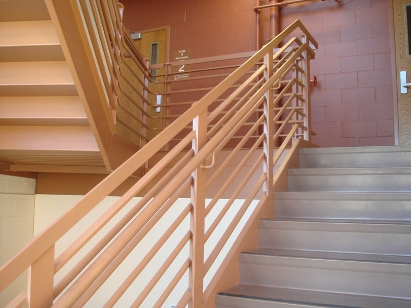 simple wooden stair railing
