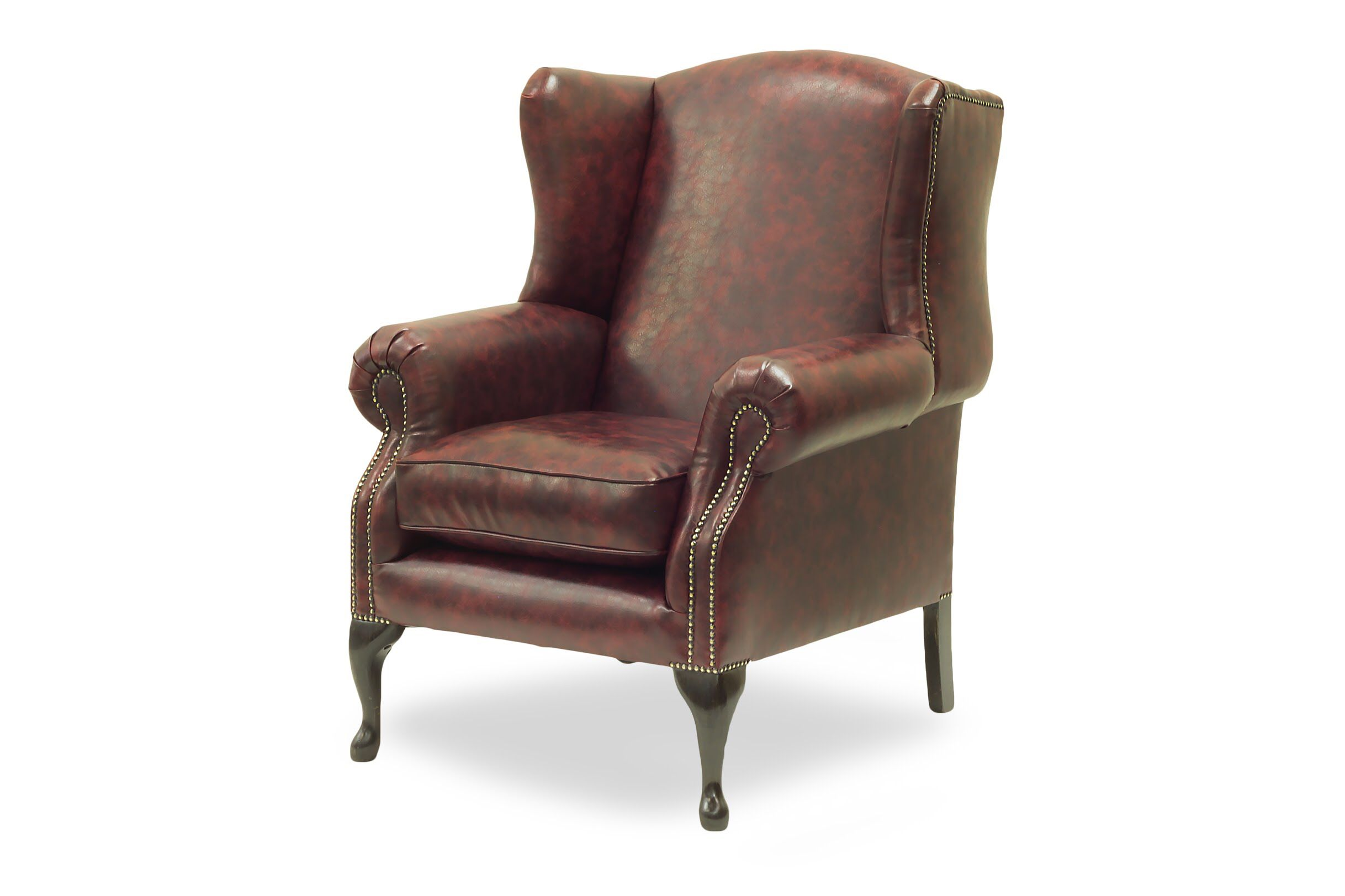 Sit Back And Relax In This Bespoke Wingchair In Yarwoodleather Churchill Faux Leather Dontfollowtheherd Chaiselongu Chair Chair And Ottoman Furniture Maker
