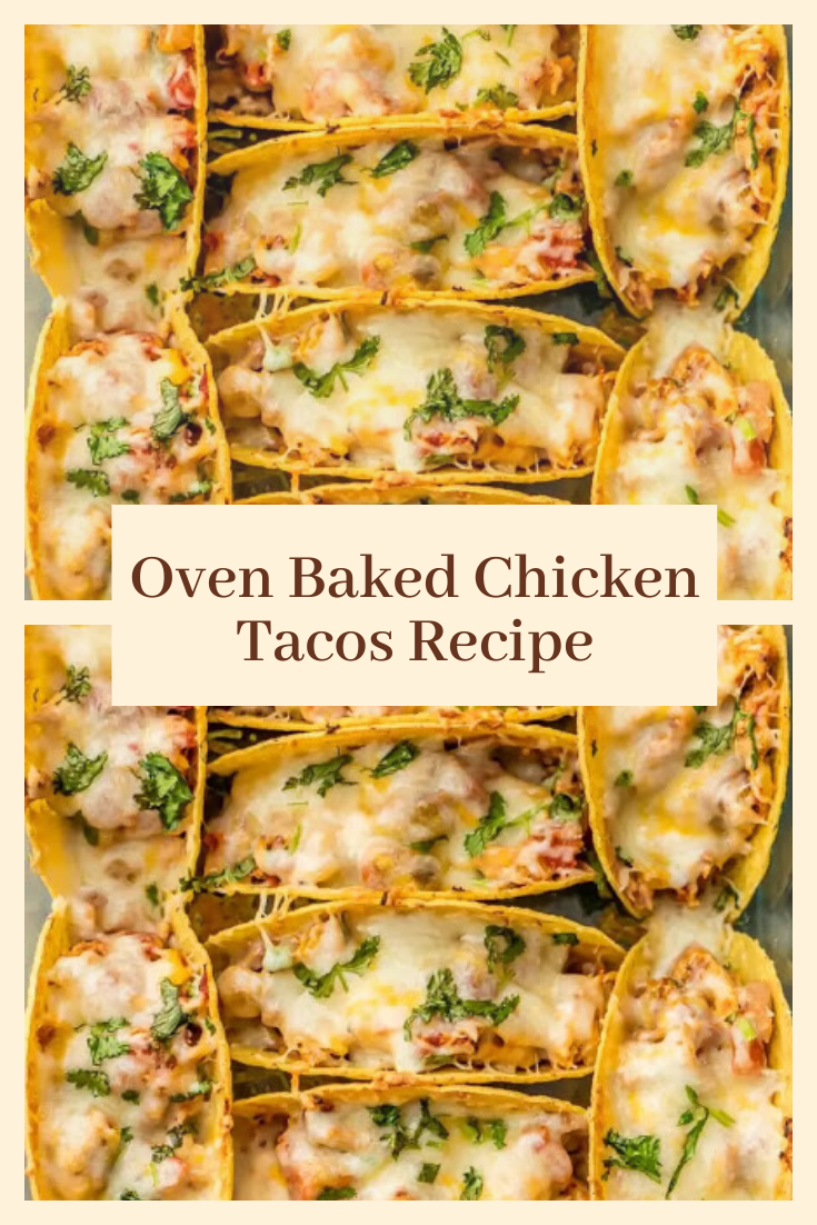 Oven Baked Chicken Tacos Recipe #food recipes#lunch#chicken