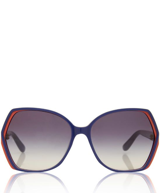 Marc by Marc Jacobs Blue Oversized Angular Sunglasses $164.34