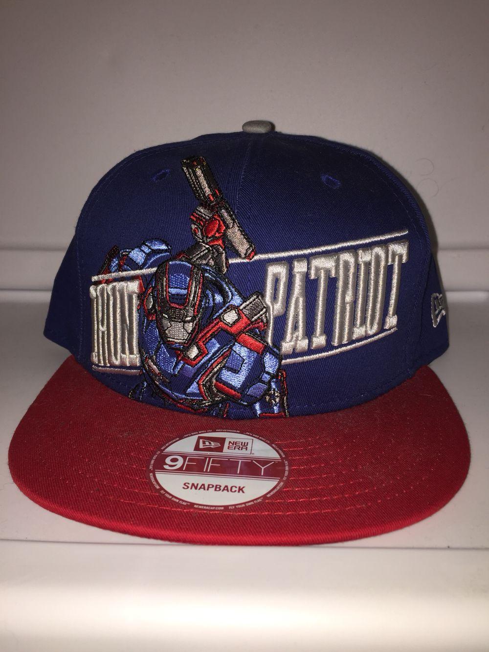 Iron patriot blue with red brim hats new era blue