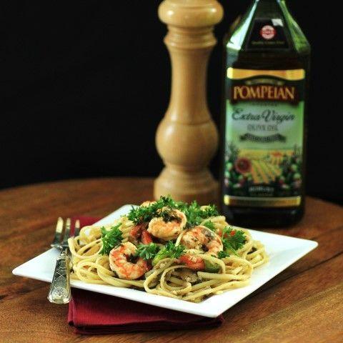 Shrimp and Linguini Olio