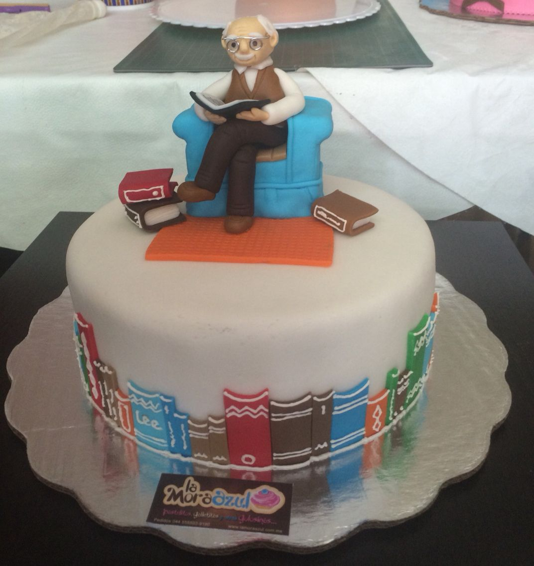 Fondant Grandpa cake At the library family Pinterest Cake