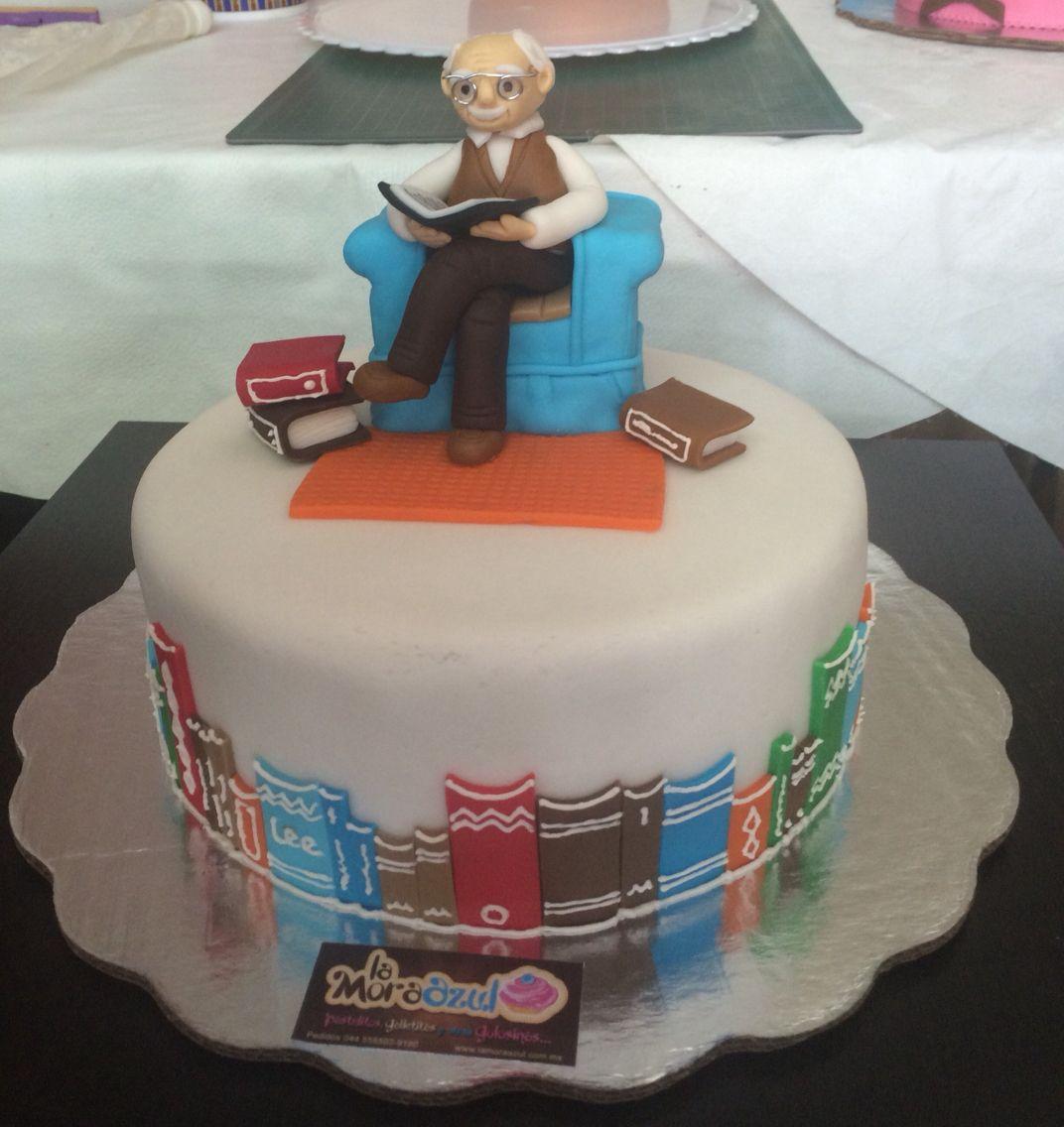 Fondant Grandpa cake At the library Ultimas entregas