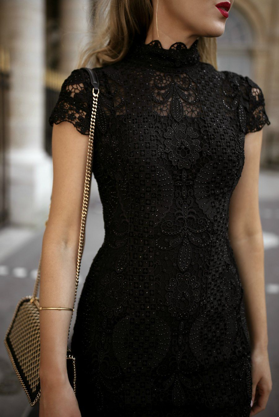 30 Dresses In 30 Days Day 11 What To Wear To A Cocktail Attire Wedding Black Lace Short Sleeve Mini Beautiful Black Dresses Cocktail Attire Classy Dress [ 1348 x 900 Pixel ]