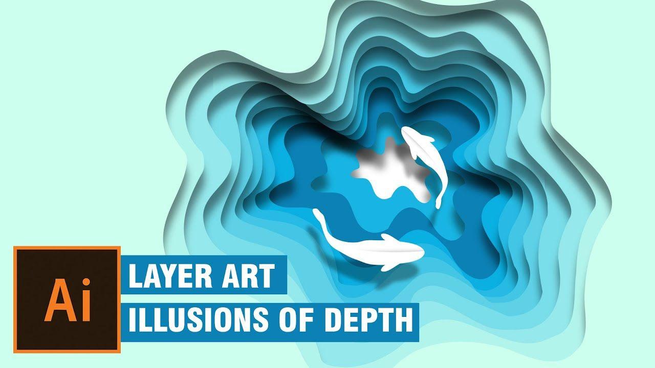 layer art in illustrator illustration Illusions of