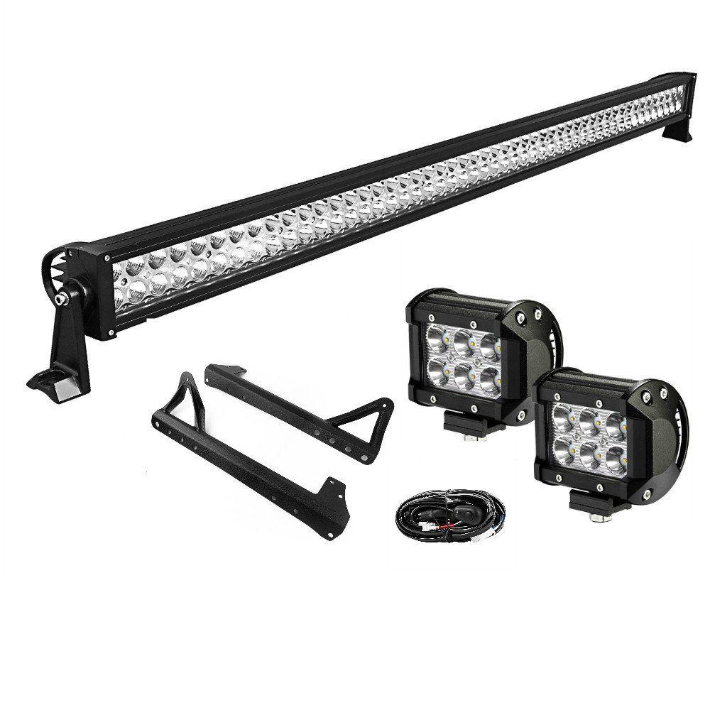 LED Light Bar YITAMOTOR 50 Inch Combo Light Bar + 2 X 4