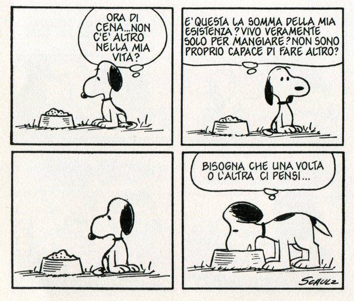 Snoopy procrastina anche nel pensiero. | Vignetta, Snoopy, Vignette