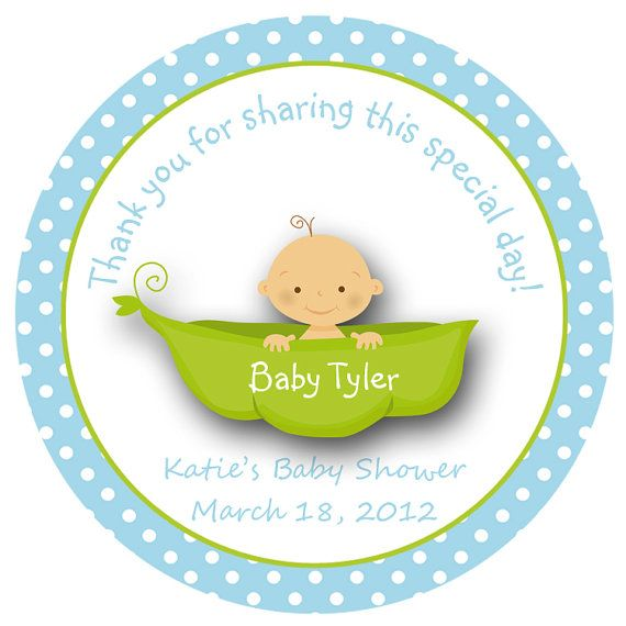 Pea in a pod baby shower sticker sweet pea baby boy personalized sticker favor tag address label custom sticker