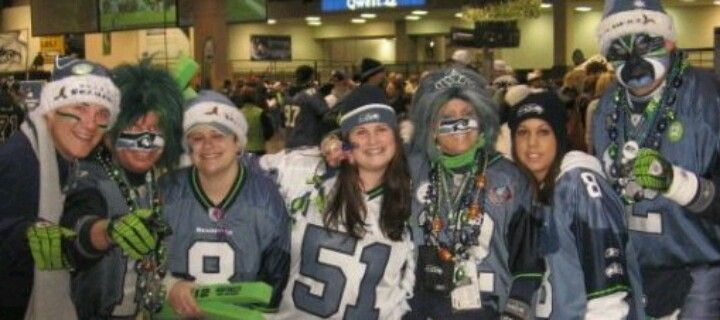 Mr. and Mrs. Seahawk with me and my friends