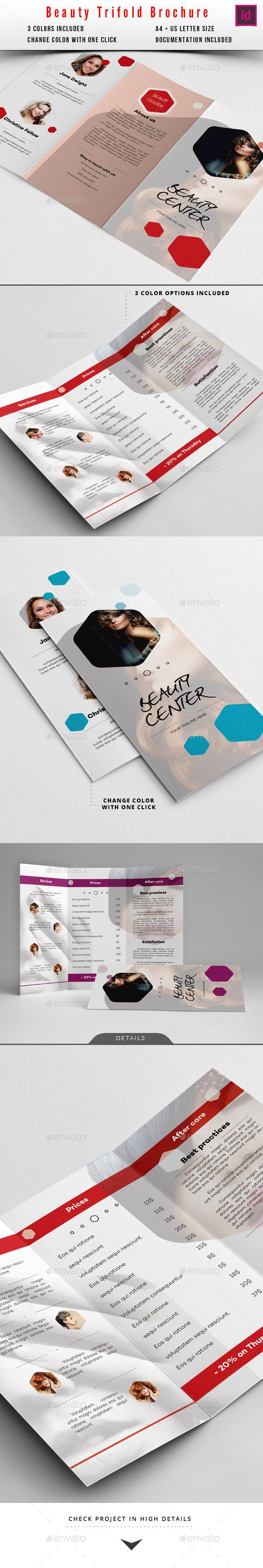 Beauty Salon Brochure  Indesign Indd Multicolor Clean