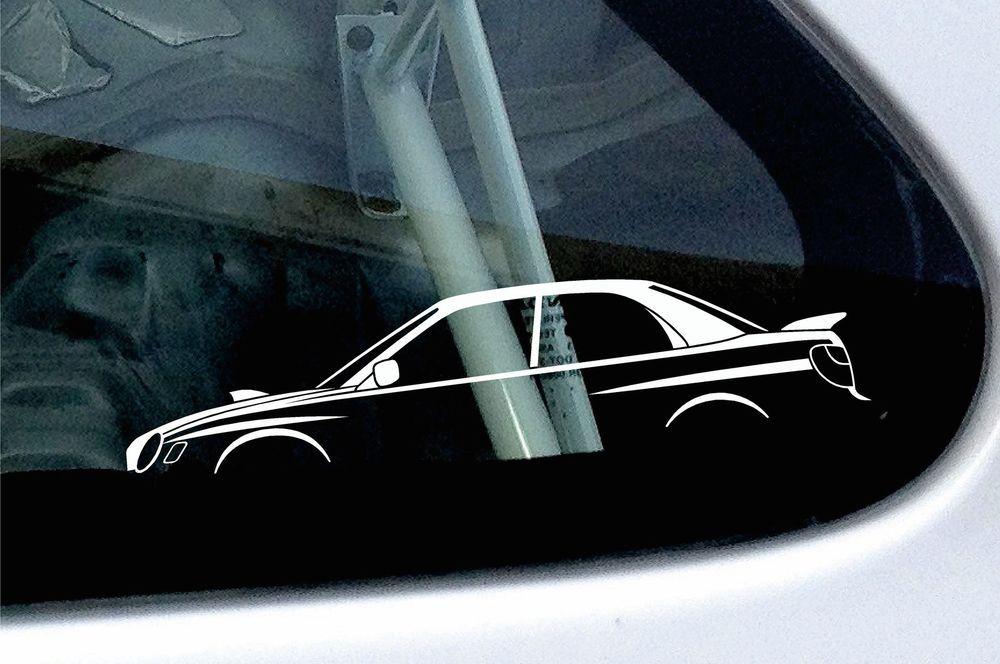 442ab225df2ec Details about 2x car silhouette stickers - for Subaru Impreza WRX ...