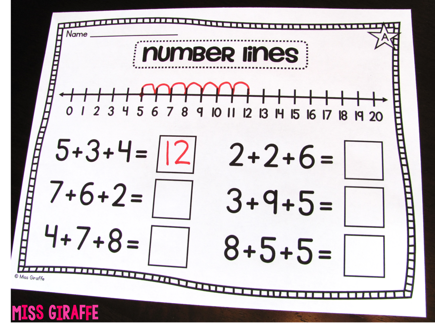 Adding 3 Numbers Strategies Ideas Number Lines And More