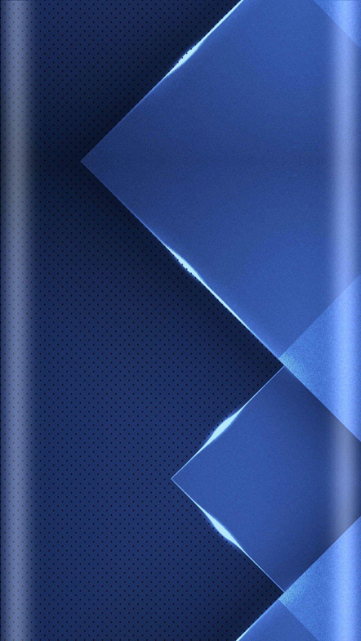 Blue Geometric Abstract Wallpaper Wallpaper edge