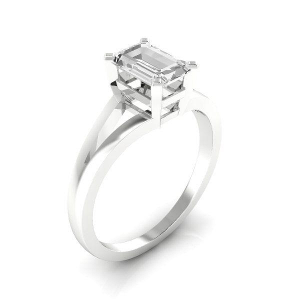 14k white gold:  875 carat #JewelryByHarold #EngagementRings