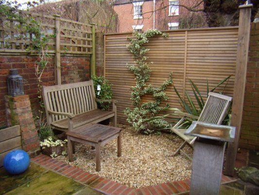 Small Seating Area With Winter Interest Garden Sitting