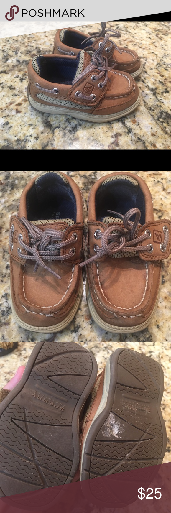 Sperry Baby Size 5 Top Siders   Sperrys