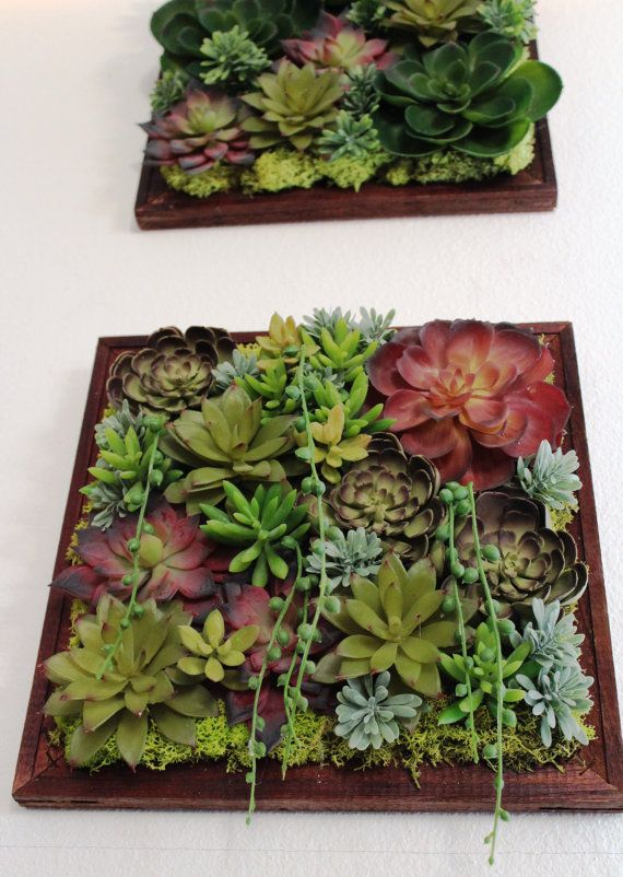 Artificial Succulent Wall Hanging Decoration Etsy Succulent Wall Hanging Succulent Wall Succulents