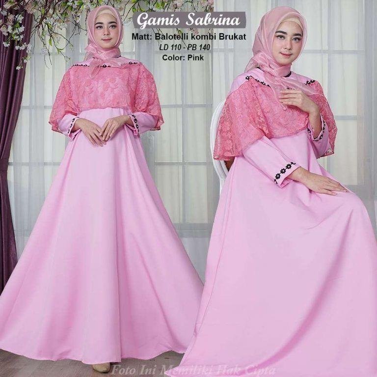 Model Gamis Brokat Kombinasi Polos Remaja Ragam Muslim Model Wanita Busana Islami