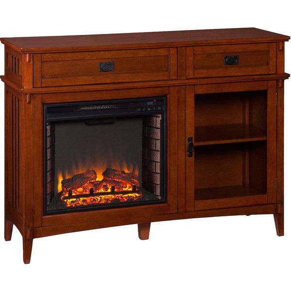 Percy Electric Fireplace Console Table 1 140 Liked On