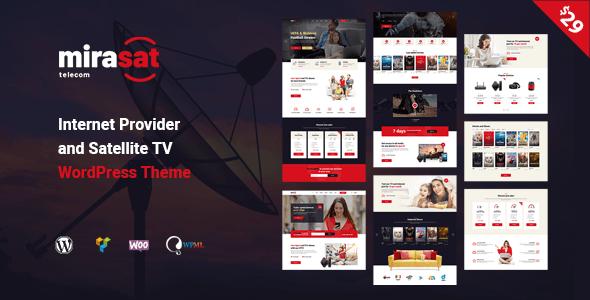 Mirasat Internet Provider And Satellite Tv Wordpress Theme Stylelib Internet Providers Satellite Tv Wordpress Theme