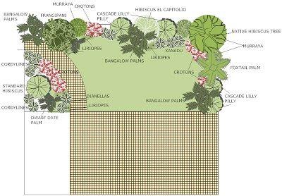 tropical garden design plan