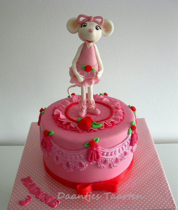 For A Sweet Little Girl Who Really Wanted A Angelina On Her Cake