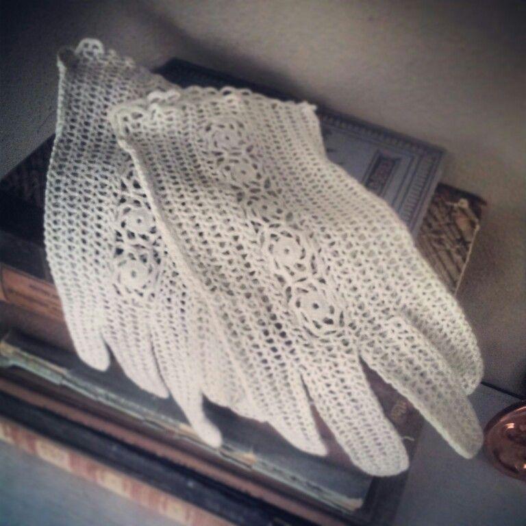Gehaakte Handschoenen Antiek