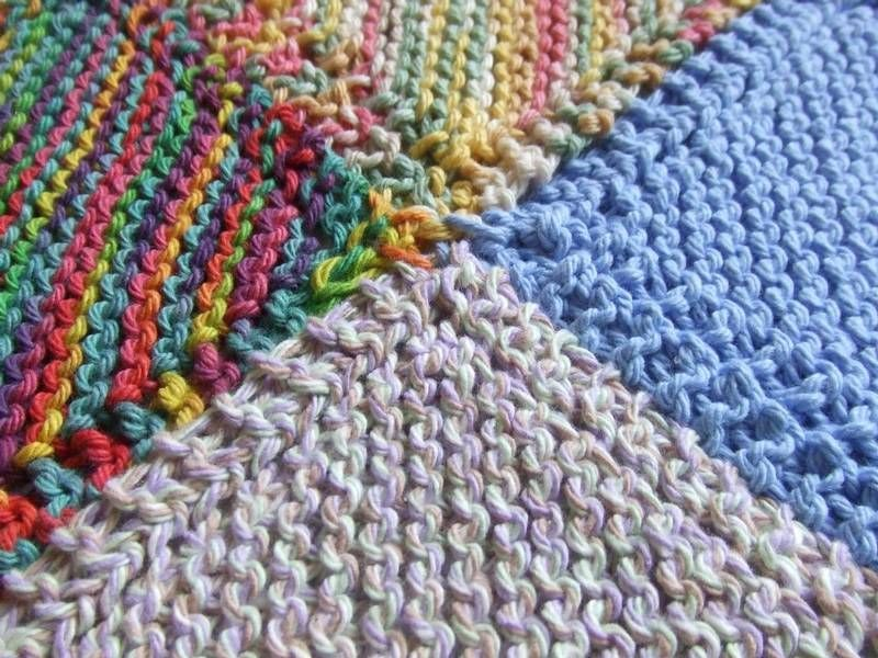 Knitting Patterns For Beginners Blanket : A simple knitted patchwork blanket for beginners couture
