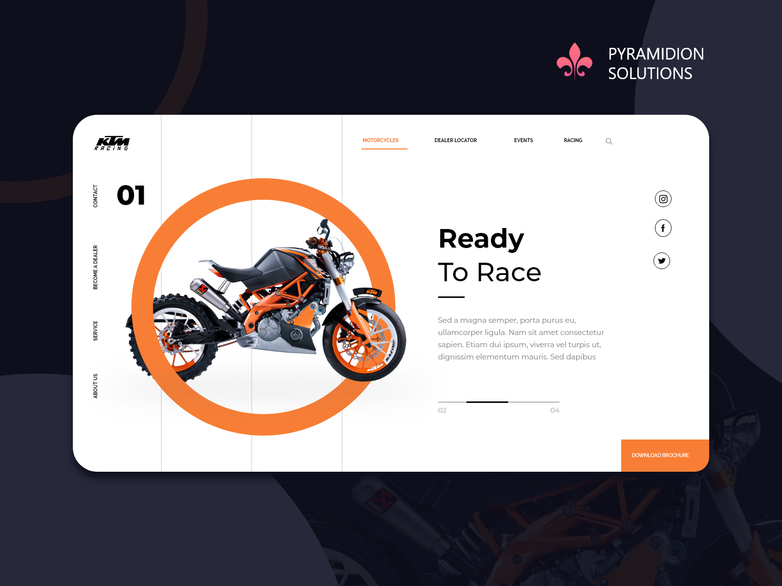 Ktm Bike Landing Page Design Landing Page Design Page Design Landing Page