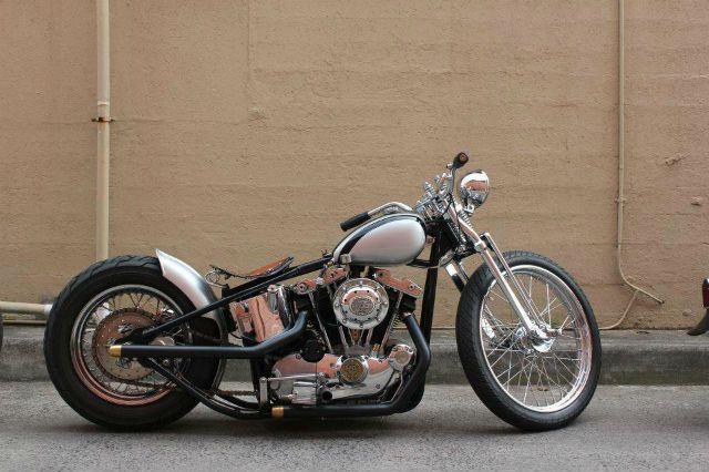 Harley-Davidson Ironhead bobber motorcycle