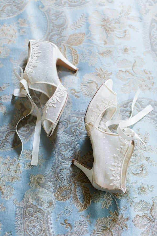 1daa27bb7499 These dreamy Harriet Wilde French heels radiate vintage beauty with soft  bows and embroidery