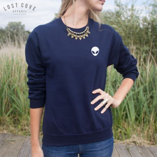 Pocket-Outline-Alien-Head-Sweater-Top-Sweatshirt-Jumper-Grunge-Tumblr-UFO-Space