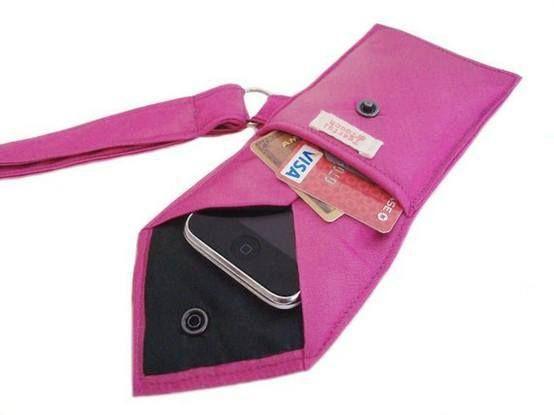 Porta celular de corbata de la Web