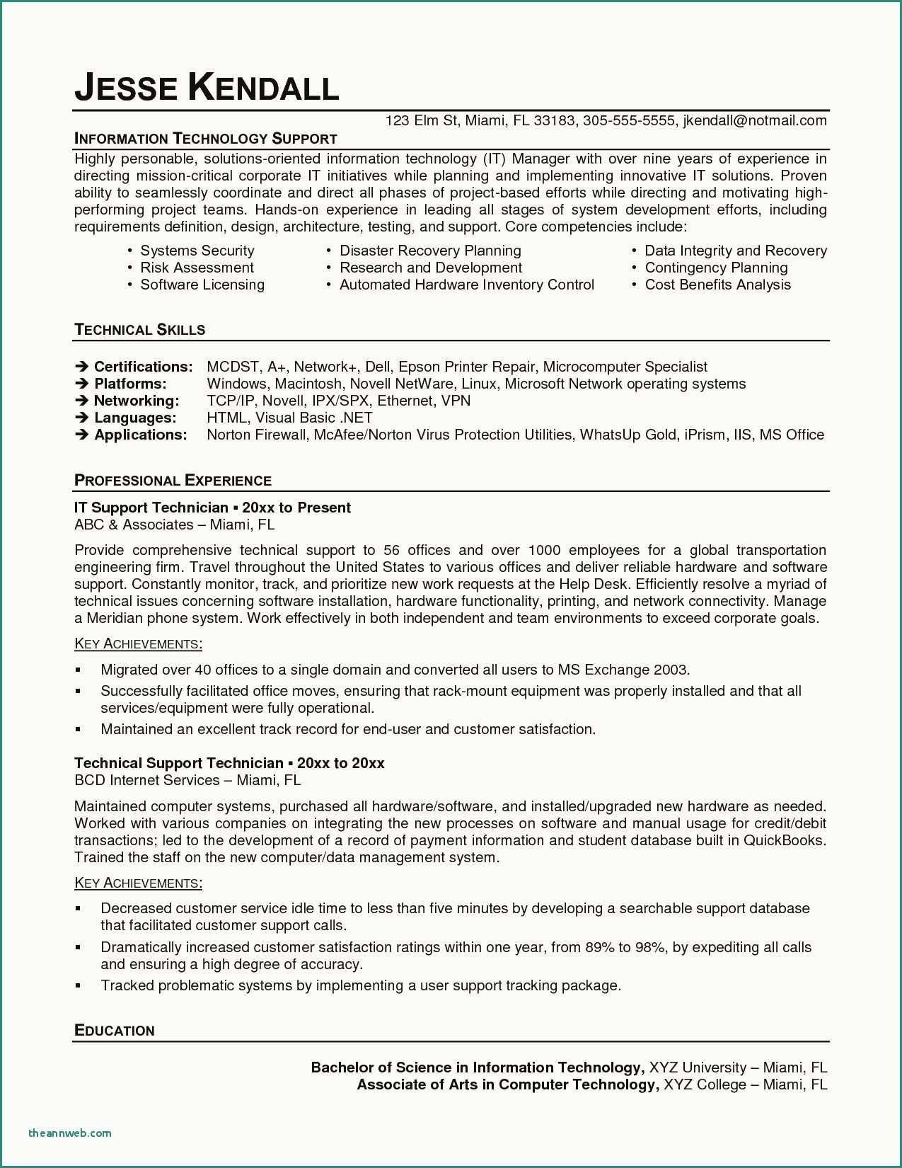 73 Inspiring Image Of Resume Examples Of Maintenance Technician Job Resume Examples Resume Examples Internship Resume